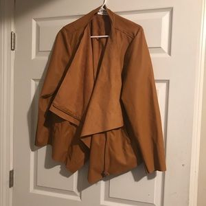 JustFab Duster Moto Jacket Waist Length